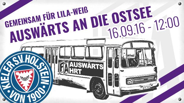 Lila-Weiß on Tour: Auswärtsfahrt nach Kiel
