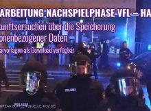 Vorfall VfL Osnabrück gegen Halle: Auskunftsersuchen Formularvorlagen