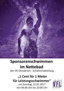 VfL Schwimmabteilung Sponsorenschwimmen Leistungsschwimmer